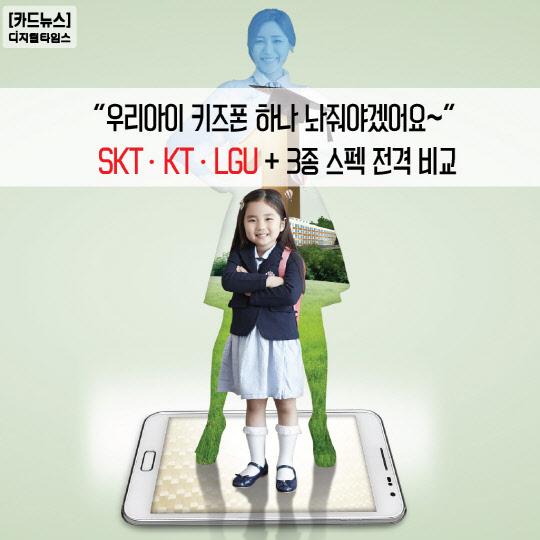 """[카드뉴스] """"우리아이 키즈폰 하나 놔줘야겠어요~"""""""